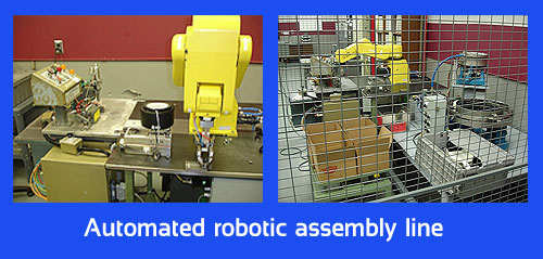 Denver Plastics designed, built and installed this automated robotic assembly line for a client.